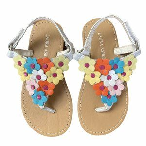 Laura Ashley Floral Sandals Toddler Girl Size 9